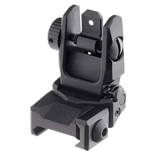 UTG PRO Flip-up Rear Sight, Picatinny, Black, one Size (TLURS55)