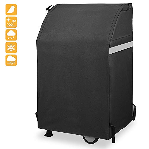Grisun 32 Inch Grill Cover for 2 Burners Gas Grill, Heavy Duty Waterproof, Fade Resistant BBQ Grill Cover for Collapsed Side Tables Weber Charbroil Nexgrill, Brinkmann, All Weather Protection