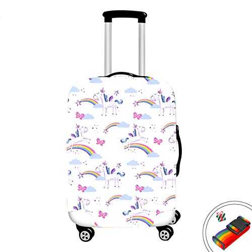 Unicorn Elastic Travel koffer Hoes Bagage Bescherming, Chickwin Print Elastische Stretch Stof Stofdicht Opvouwbare Herbruikbare Trolley Bagage Case Cover