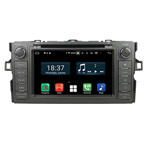 4GB RAM Android 10.0 Radio estéreo para automóvil para Toyota Auris 2006 2007 2008 2009 2010 2011 con navegación GPS Autoradio Reproductor de DVD Bluetooth USB WLAN
