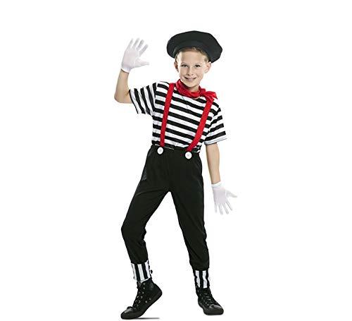 EUROCARNAVALES Disfraz de Mimo Circo para niño 5 a 6 años