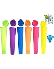 Molde de silicona para paletas de hielo, reutilizable, para hacer helado y helado, con tapas Color sólido.