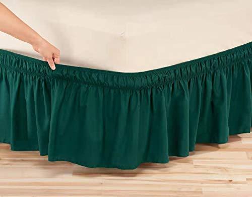 WWQQ Falda De Cama Bed Skirt EláStica Blanca Ropa De Cama para El Hogar del Hotel, Proteja El ColchóN A Prueba De Polvo (Color : G, Size : 150x200cm+30cm)