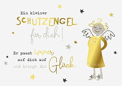DeCoArt... Set 3 Postkarten EIN Kleiner Schutzengel für Dich! 15 x 10,5 cm Natur Gold