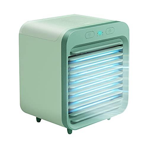 Wopam Refrigerador de aire acondicionado refrigerado por agua recargable ventilador de refrigeración de escritorio para el hogar de verano