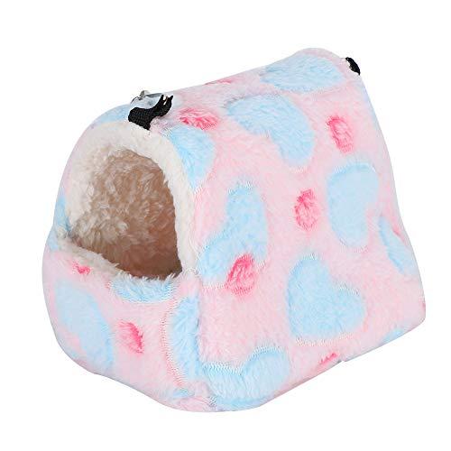frenma ?Sätt ihop Söt svamp plysch tvättbar hamster sovmatta, hamster sovsäck, lås för dvärghamster björnhamster (small)