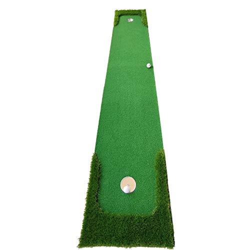 RUINAIER Esterilla de Golf portátil en para Entrenamiento Estera de Golf Mats Golf Matting Mini Mini Ejercicio Mat portátil Putting Putting Putting For Backyard Office Indoor Green 0.50x3 M