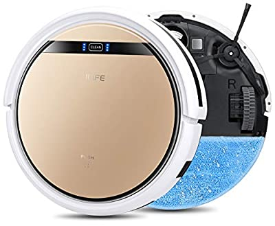 ILIFE V5s Pro, 2-in-1 Mopping,Robot Vacuum, Slim, Automatic Self-Charging Robotic Vacuum, Daily Schedule, Ideal for Pet Hair, Hard Floor and Low Pile Carpet.