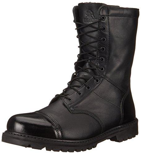 Rocky mens Waterproof 200G Insulated Side Zipper Jump Boot Black 10 W US
