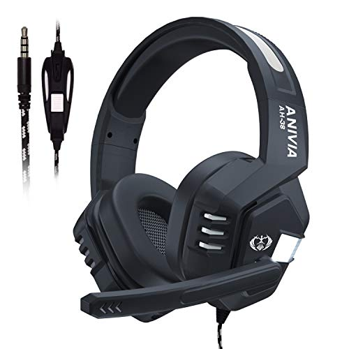 Wired Stereo Gaming Headset,Over Ear Noise Isolating Headphones with Microphone for PS4/NewXboxOne/PC/Mac/Smartphones/Tablets/Laptop