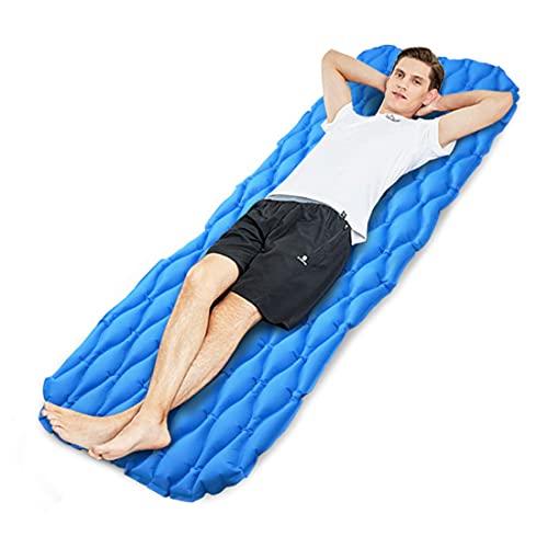 Idefair - Materassino Gonfiabile Ultraleggero da Campeggio, Impermeabile, con Cuscino per Tende, Escursionismo, Campeggio, Viaggi, Spiaggia, Spiaggia