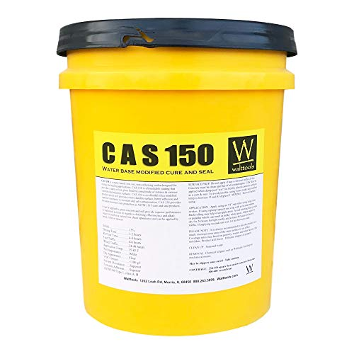 Walttools CAS 150 Cure and Seal   High-Grade, Water-Based Concrete Curing Membrane, Sealer, Dust Proofer (5 Gallon)
