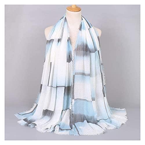 Seupeak Otoño y Moda Liviana Degradado Cheque Burbuja Burbuja Chal Bufanda Damas turbantes cálidos y Bufanda