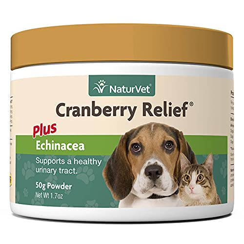 NaturVet – Cranberry Relief Plus Echinacea | Helps Support a Healthy Urinary Tract & Immune System (50g Powder)