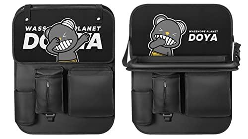 reshare - Organizador de coche con soporte para tableta, protector de asiento impermeable con múltiples bolsillos - 1
