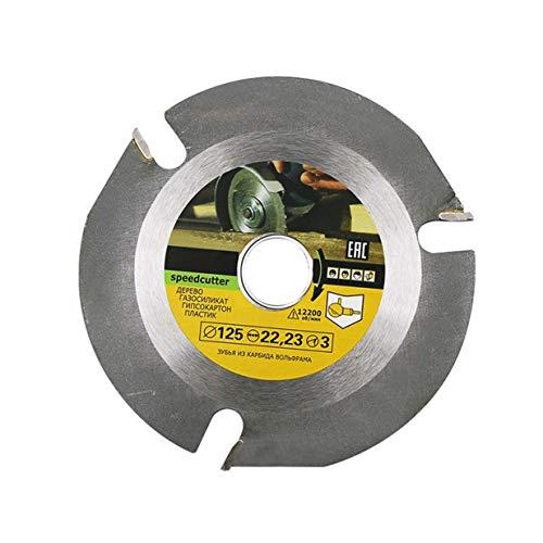 125 mm 3T Multiherramienta Grinder Disco de sierra circular Hoja de Carburo Punta de Madera Disco de Corte de Disco de Tallado Herramienta Multiherramienta Cuchillas - Gris
