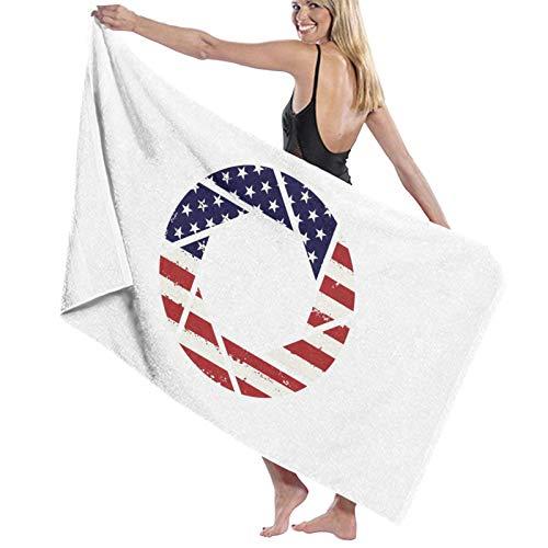 U/K Toalla de baño con apertura de la bandera americana de secado rápido