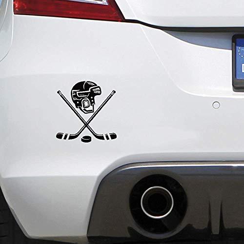 aufkleber eule auto Persönlichkeit Eishockey Helm Auto Aufkleber Lustige Sportwagen Aufkleber Für Autofenster Tür Körper Für Auto Laptop Fenster Aufkleber