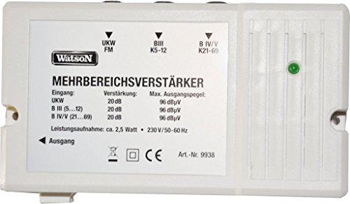 WATSON by Skymaster Mehrbereichsverstärker Verstärker DVB-T Antennenverstärker Kabelfernsehen 20dB DEUTSCHER HÄNDLER - DIGITAL - AUCH FÜR BK KABEL TV ANLAGEN - NEU