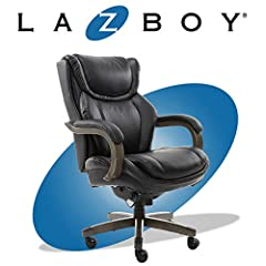 PREMIUM CUSHIONING: Ergonomic office chair with Comfort Core cushions that contour to your body SOLID WOOD ARMS AND BASE: Durable and stylish construction with premium wood BIG AND TALL DESIGN: Sturdy components surpass rigorous BIFMA testing standar...