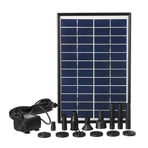 JF-XUAN Bomba de Agua H Solar 6W 500L / Fuente Sumergible Solar del jardín de la Fuente de la Bomba Sumergible con ventosas