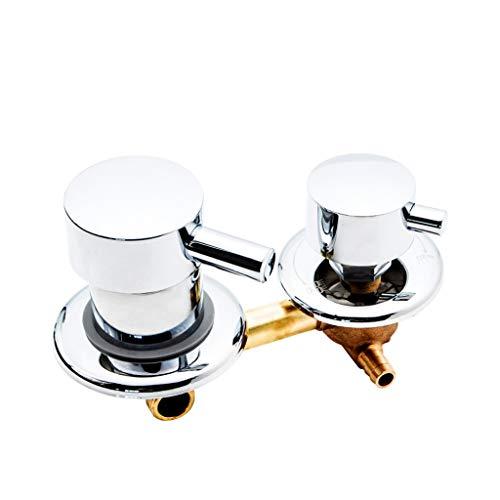 Badkamer Kraan Douche Mixer Set Zilver 2 Weg 10 Cm Douche Schakelaar Controle Messing Douche Room Kraan Mixer Douchecabine Accessoires Douche Vave Diverter ZILVER