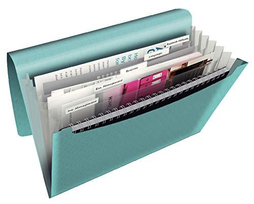 Esselte Colour\'Ice Projektmappe, A4, 6 Fächer, PP, Blau, 626252