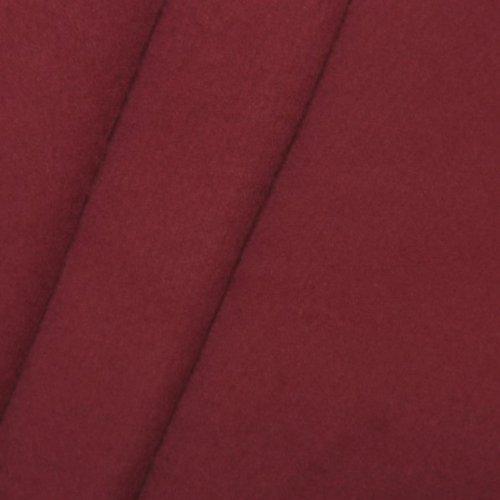STOFFKONTOR Bühnen Molton Stoff B1 schwer entflammbar - 300 cm Meterware, Bordeaux - für Wandverkleidungen, Eventbereich, Vorhänge, Messebau, Dekorationen jeder Art