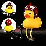 Radfahren gelbe Ente Glocke MTB Fahrrad Helm Motorrad Fahren Radfahren Zubehör Gebrochenwind kleine gelbe Ente Glocke mit Licht