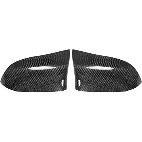 MNBX para B MW Carcasas de Espejo retrovisor Lateral Coche, Espejo de ala Lateral de Puerta, Fibra de Carbono ABS Que Cubre el 1 par de Tapas Decorativas, Izquierda y Derecha