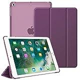 Fintie Hülle für Pad 9.7 Zoll 2018 2017 / iPad Air 2 (2014) / iPad Air (2013) - Superdünn Schutzhülle mit durchsichtiger Rückseite Abdeckung Cover mit Auto Schlaf/Wach Funktion, Lila