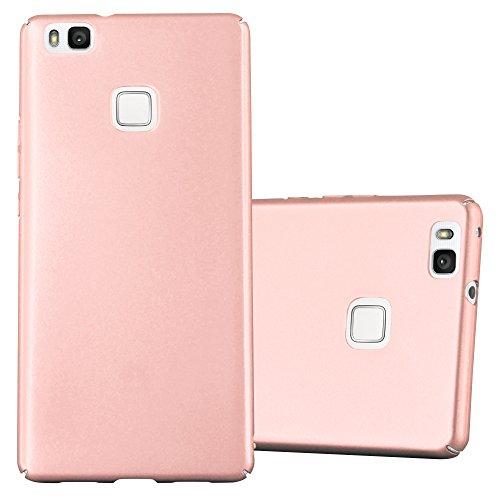 Cadorabo Funda para Huawei P9 Lite en Metal Oro Rosa - Cubierta Protección de Plástico Duro Super Delgada e Inflexible con Antichoque - Case Cover Carcasa Protectora Ligera