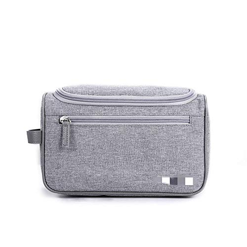 JOMSK Travel Makeup Case Portable Large Small Make-up Bag Cosmetic Case Toiletry Bag Vanity Case With Patterns Zipped Temperament Organiser Storage Pouch For Women Girl (Color : Gray)