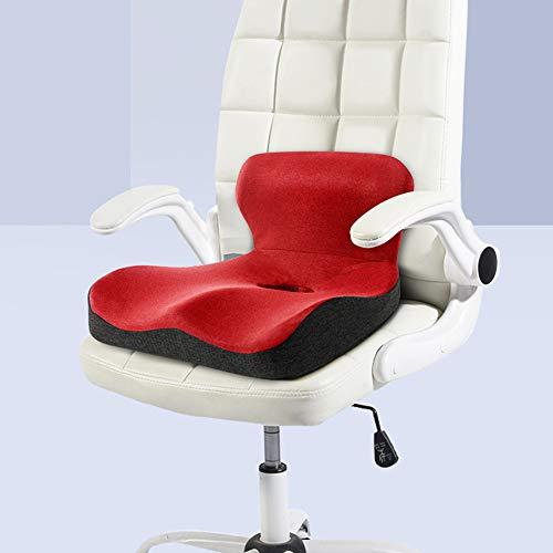 QIA Memory Foam Seat Cushion, L Shape Seat Cushion for Office Chair Cushion, Orthopedic Seat Cushion, Car, Home - Sciatica Pain Relief Slow Rebound Pressure Cushions