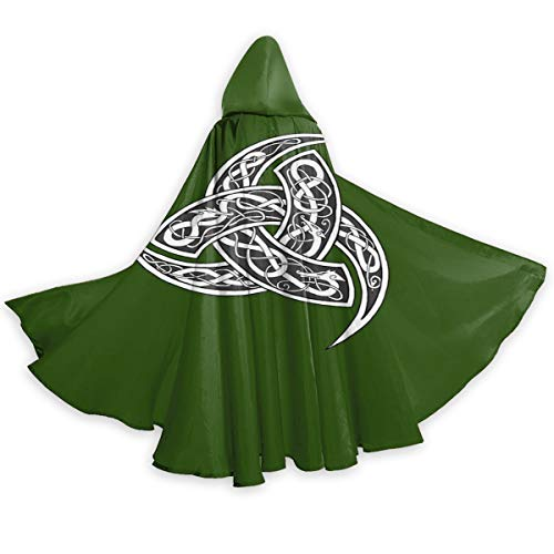 Celtic Norse Viking Nordics Wiccan Wicca Halloween Wizard Witch Hooded Robe Cloak Christmas Hoodies Cape Cosplay for Adult Men Women Party Favors Supplies Dresses Clothes Gifts Costume Green, L