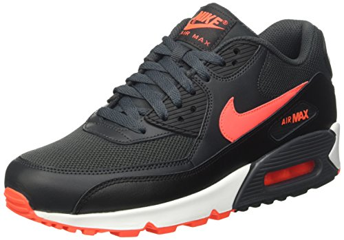 Nike Men's Air Max 90 Essential Running Shoes, Black/Black, 7.5 M US