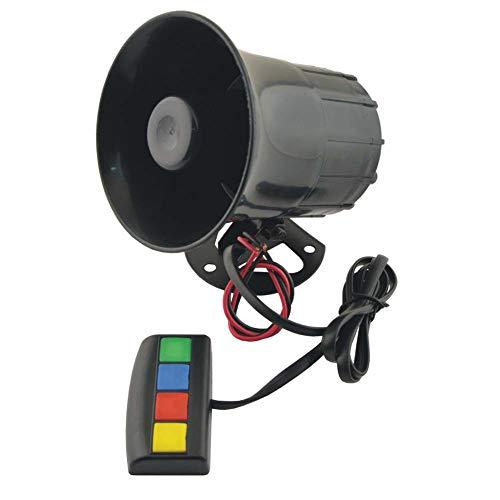 Kenanlan Universal-Lautsprecher für Motorrad, Auto, 4 Sound/Ton, 12 V, Warn laute Hupe/Sirene Trompete