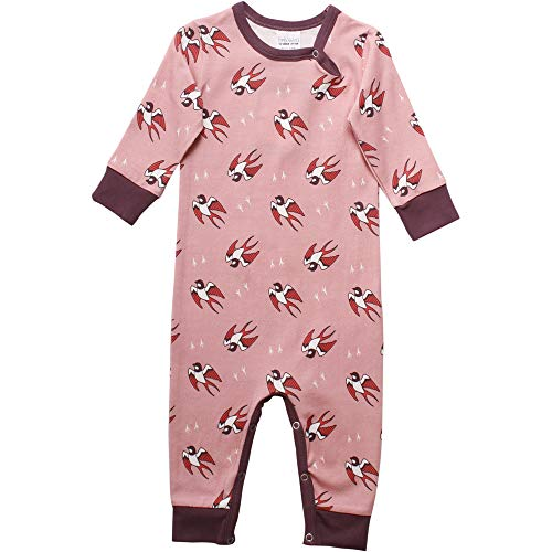 Fred'S World By Green Cotton Bird Bodysuit Body, Rose (Fairy Rose 015161101), 68 Bébé Fille