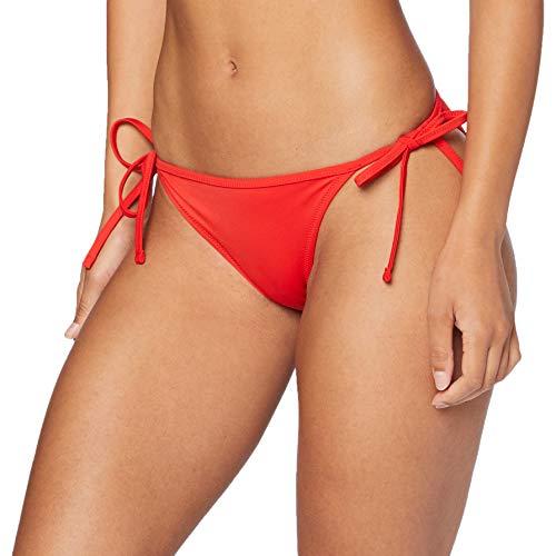 PUMA Womens Women's Side-tie Bikini Bottoms, red, S