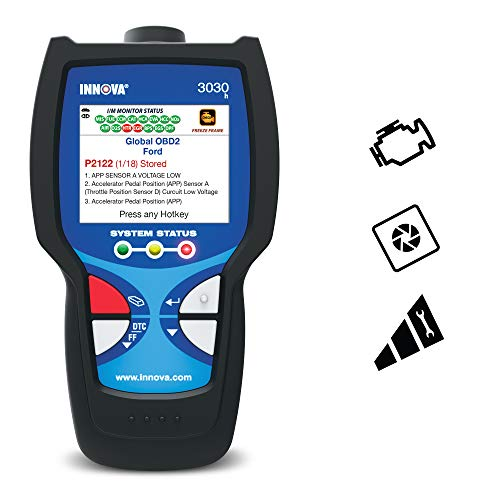 Innova 3030 OBD2 Scanner / Car Code Reader  with Check Engine Severity Alert and Emissions Check