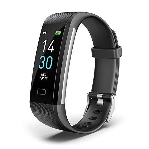 chebao, Reloj inteligente, smartwatches, S5 Smart Band Monitor de ritmo cardíaco de presión arterial (negro)