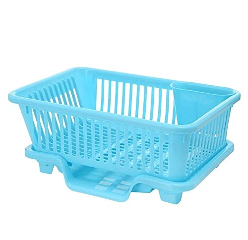Stil: Strawman Drainage, Sizing: S, Kitchen Sink Dish Multifunktions Abtropffläche Trinke keinen Alkohol Rack-Küche Waschhalter Basket Organizer Blau QiuGe
