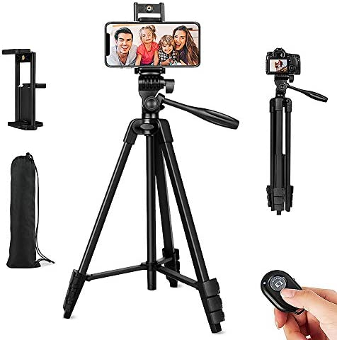 Cell Phone Tripod 54 Extendable Adjustable Phone Tripod Lightweight Tripod 360 Rotation with product image