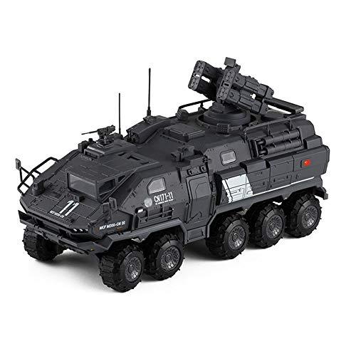 Xolye Colección de Juguetes Toy Boy simulación Van Camión transportador de aleación Modelo de simulación de Transporte de Personal Metal del Coche Vehículo de construcción Adornos (Color : UN)