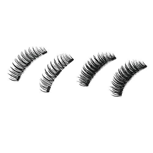 3D Three Magnets Long Thick False Eyelashes No-Glue Natural Fake Eyelashes
