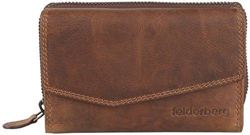 Jasy Washed-Vintage Damen-Geldbörse aus geöltem Echt-Leder, Farbe:Brown