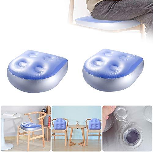 Souarts 47x37x15cm Universal Sitzerhöhung für Spa Whirlpools Pools Badewanne Massagematte Aufblasbare Kissen Sitzkissen für Erwachsene Kinder