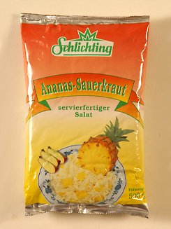 Ananas Sauerkraut 2x 500g Beutel (schonend gegart)