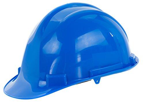 Reis Arbeitsschutzhelm EN397 | Schutzhelm ideal für Industrie oder Handwerk | Bauarbeiterhelm aus widerstandsfähigem PP | Arbeitshelm mit 4-Punkt-Aufhängung | Helm Farbe: blau