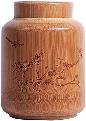 HYBUKDP Ataúdes y urnas La cremación urna de Aves de bambú de Madera Natural Tallada por Parte de Humanos o Mascotas Cenizas Ataúdes